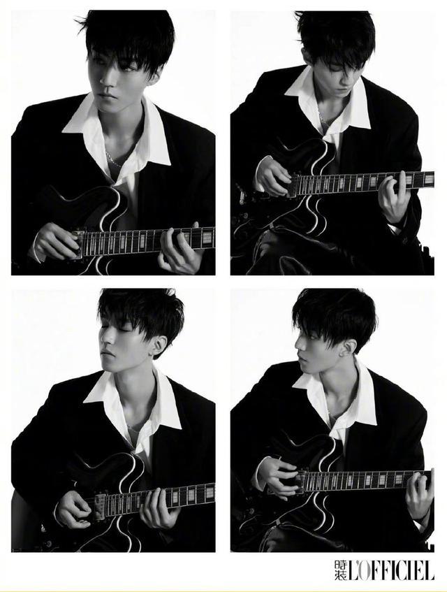 王俊凯黑白质感大片曝光 光影间映衬出少年沉稳的目光插图9