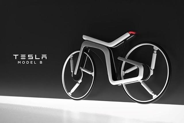 特斯拉电动自行车曝光,充满科技感插图